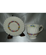 ROYAL DOULTON Bone China EVESHAM Floral Demitasse Cup & Saucer Set (Engl... - $14.60