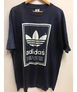 Vintage 90s Adidas Trefoil Big Logo SpellOut Crew Neck Hip Hop Skate Swa... - $60.00