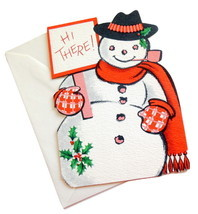 Vintage Frosty The Snowman Ambassador Christmas Greeting Card Die Hi The... - $6.95