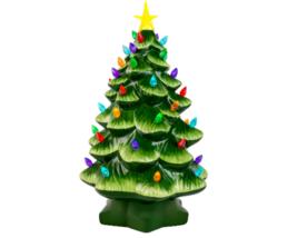 "Mr. Christmas Tree 14"" Green Ceramic Christmas Tree with Multi Color Lights New - $54.44"