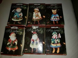 Lot Of 6 Different Bell Ornaments w/Dangling Legs by Kirkland Signature ... - $69.29