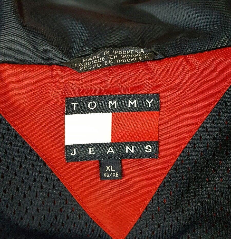 VTG Tommy Hilfiger Jacket Flag Windbreaker Colorblock 90's Spell Out XL Coat image 10
