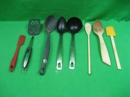 Vintage Eight (8) Piece Kitchen Utensils Set Spoons Ladles & Spatulas  - $16.79