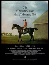 Equestrian Art Jockey Riding Horse Grosvenor House Fair London 1994 Prin... - $14.99