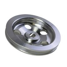 3/8 Saginaw Power Steering Pump Single-Groove Aluminum Pulley For GM (Chrome) image 7