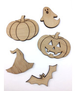 DIY Flat Laser Cut Halloween Theme Unfinished Wood Wooden Craft shape or... - $1.00+