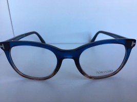 New Tom Ford TF 5310 TF5310 092 50mm Rx Blue Ambre Eyeglasses Frame Italy - $199.99