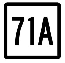 Connecticut State Highway 71A Sticker Decal R5101 Highway Route Sign - $1.45+