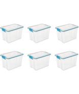 Sterilite 19324306 20 Quart/19 Liter Gasket Box, Clear with Blue Aquariu... - $67.99+