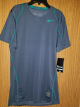 Nike Pro Cool Fitted S/Sleeves Men's T-shirt, Dark Gray Color, Size S(US... - $21.77