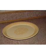 Franciscan Yellow Jamoca Vintage Oval Platter Gold Lace Scrolls Amish 14... - $39.59