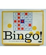 1963 Vintage BINGO Set Cards Whitman 4409 Game 06 Old Stock - £22.04 GBP