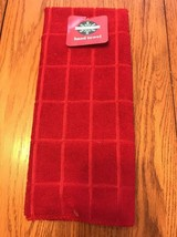 """December Home Hand Towel Red 100% Cotton 16""""x25"""" Ships N 24h - $14.83"""