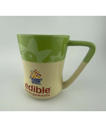 edible arrangements Green And Yellow Mug With Floral Design - $7.25