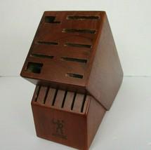 Zwilling JA Henckels Solid Wood Knife Block Holder 15 Slot Dark Brown  - $24.74
