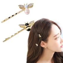 UNIQU® New Cute Bee Rhinestone Hairgrip Hairpins Girls Women Hair Clip F... - $1.92
