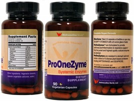 Pro-OneZyme Best Proteolytic Systemic Enzymes Supplement with Nattokinase - $152.18