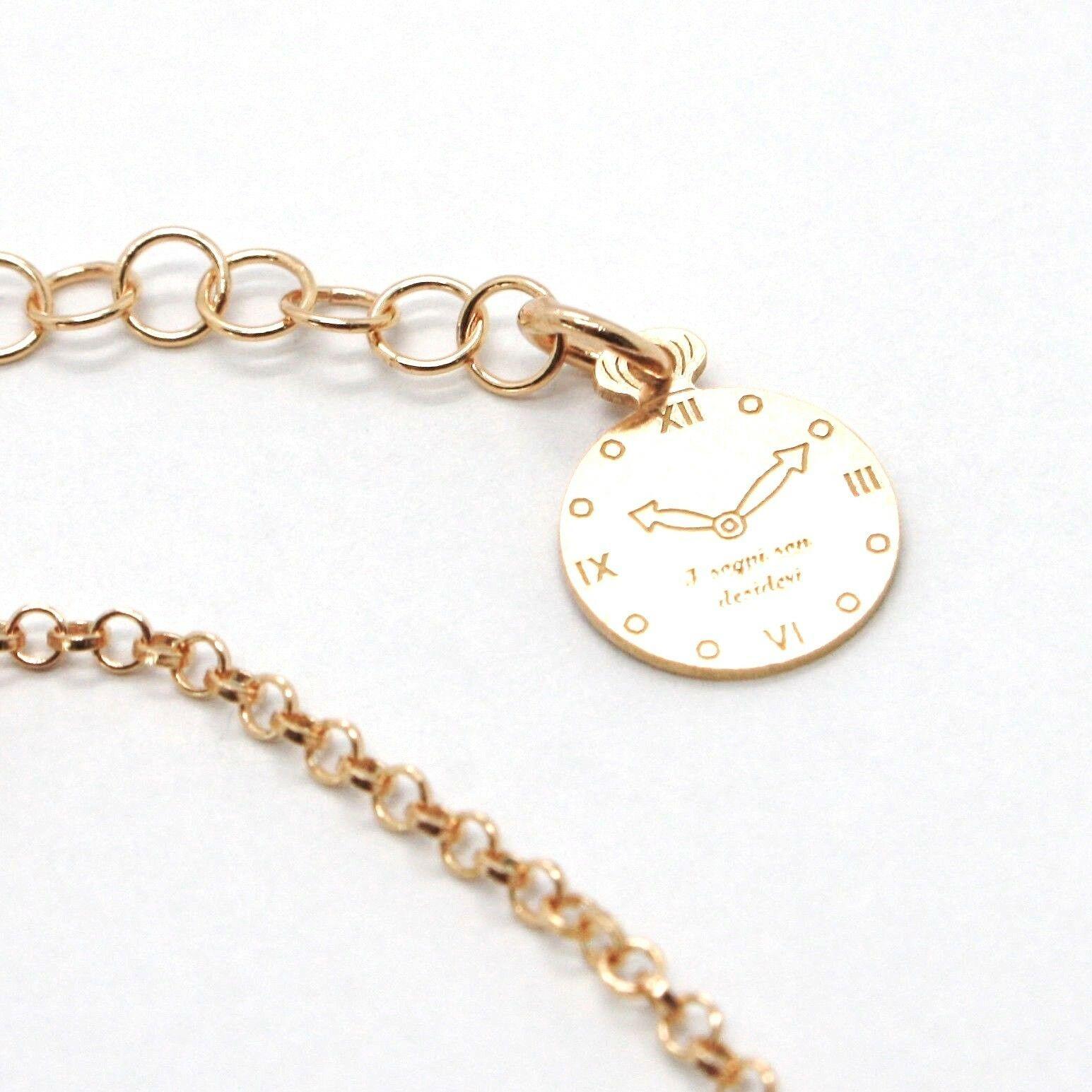 Pulsera de Plata 925 Laminado en Oro Rosa Le Favole con Lazo AG-901-BR-52 image 4