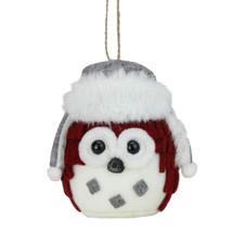 "Roman 5.25"" Alpine Chic Rustic Owl Christmas Ornament Faux Fur Trimmed Hat - $13.60"