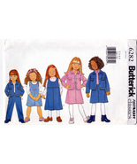 Butterick 6282 Girls Sewing Pattern Childrens Jacket Jumper Skirt Pant S... - $6.95