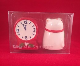 Tag Mouse and Clock Salt & Pepper Shakers Set 2  Twas the Night Before C... - €11,74 EUR