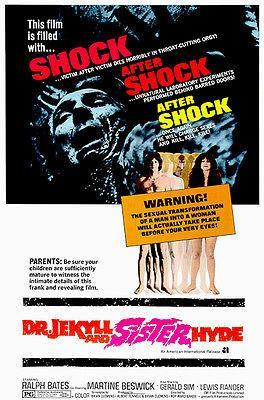Primary image for Dr. Jekyl and Sister Hyde - 1971 - Movie Poster
