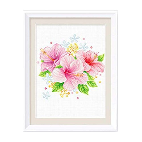 PANDA SUPERSTORE Spring Flower DIY Cross Stitch Stamped Kits Pre-Printed 11CT Em