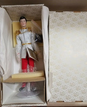 Disney Franklin Mint Prince Charming with Glass Slipper on Pillow NIB - $65.99