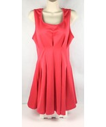 Double Zero Womens Size L Pleated Tennis Dress Sleeveless Back Zip Coral... - $24.87