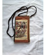Case for Smartphone/Cell Phone Brown Textile in Egyptian Ethnic Style New - $21.78