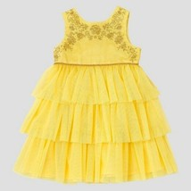 Toddler Girls Beauty And The Beast Empire Dress Rose Yellow Belle Gown 5... - $57.81