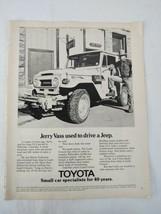 1974 TOYOTA LAND CRUISER Hardtop Vinyl Top Magazine Print Ad Advertisement - $14.83