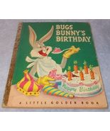 Childs Little Golden Book Bugs Bunny's Birthday 1950 A Printing Early V... - $11.95