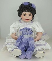 "Marie Osmond Baby Annette 15"" Porcelain Doll Limited Edition w/ Teddy Bear & Box - $112.19"