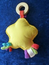 Sassy Baby Infant Developmental Toy Wood Wooden Star Mirror Rattle Tags Knots - $24.74