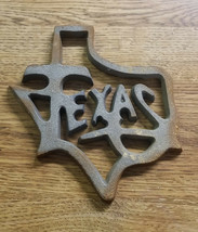 5pc Cast Iron Texas Plaque sign trivet supply crafting wholesale closeou... - $22.99