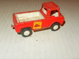 VINTAGE DIECAST - TOOTSIETOY-- RED FIRE CHIEF FLATBED TRUCK - FAIR - J81 - $5.38