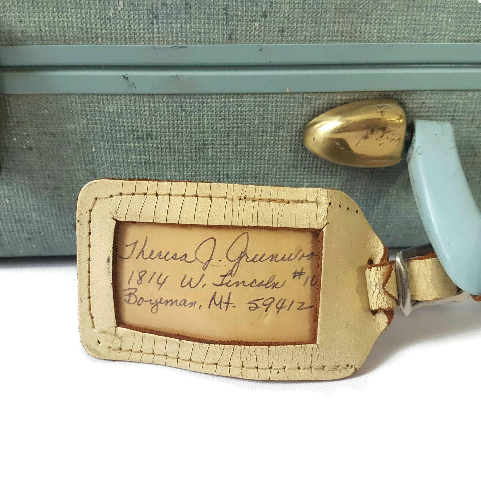 Vintage Samsonite White Marbled Suitcase Luggage Burlesque Case Valise