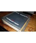 TCM FORK LIFT TRUCKS DEALER SALES MANUAL BOOK GUIDE - $48.51