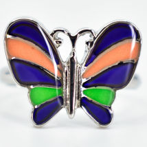 Kid's Fashion Silver Tone Butterfly Color Changing Fashion Adjustable Mood Ring image 5