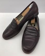 BRAGANO Cole Haan Burgundy Leather Slip On Loafer Dress Shoes Men's 10.5 M - $74.49