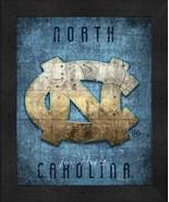 "North Carolina Tar Heels ""Retro College Logo Map"" 13x16 Framed Print  - $39.95"