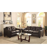 DELTA-Contemporary Brown Real Leather Sofa Couc... - $1,555.76