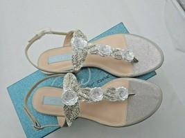 Blue by Betsey Johnson Women's Sb-Camil Dress Sandal Silver size 8.5 M - $28.50