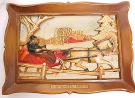 "3-D WALL HANGING PLAQUE ""A WINTER RIDE"" - $14.77"
