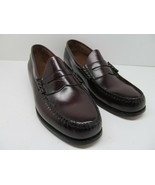 GH Bass Weejuns Penny Loafers Burgundy Leather Dress Shoes Mens Size 10 D - $48.02