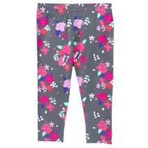 NWT Gymboree Girls Floral Gray Leggings Mix N Match 3T 4T 5T - $6.99