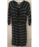 Ann Taylor Loft Black and White Peasant Dress Gathered Waist Size Small - $22.27