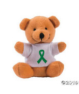 Green Awareness Ribbon Stuffed Bears - $24.99