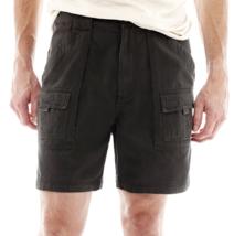St. John's Bay Hiking Shorts New Size 32, 36, 38, 40, 42, 44 Dark Charcoal - $16.99